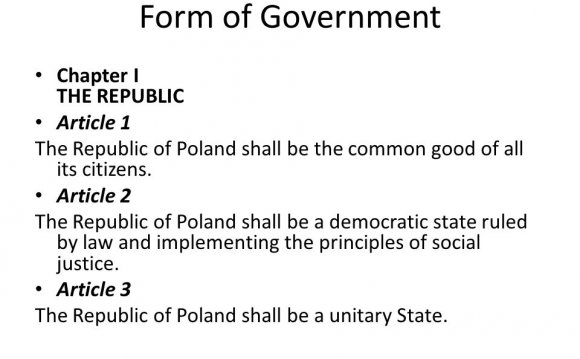 Form of Government Republic