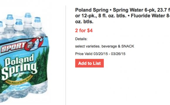 Poland Spring water ingredients