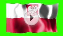 Poland Waving Flag - Green Screen Animation